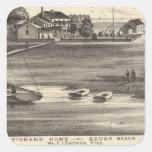 Sportsmans Home, Squan Beach, NJ Square Sticker