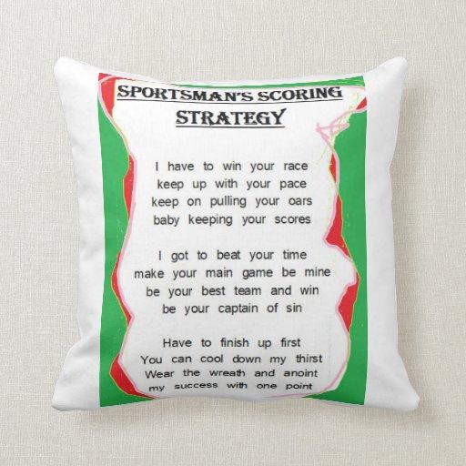 Sportsman's Scoring Strategy cushion Throw Pillows