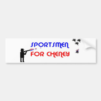 Sportsmen for Cheney Bumper Sticker