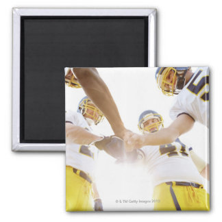 sportsmen standing with hands together 2 inch square magnet