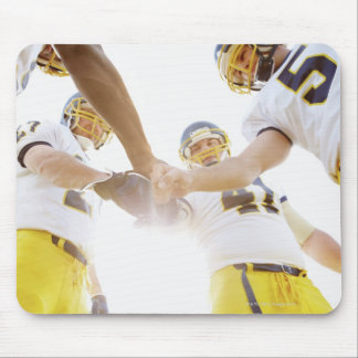 sportsmen standing with hands together mouse pad