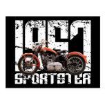 Sportster 1957 tarjetas postales