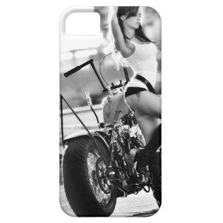 Sportster, Ol School Chopper, Motorcycle, Girl iPhone SE/5/5s Case