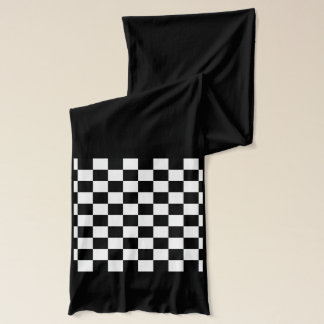 Sporty Auto Racing Chequered Flag Checkered Flag Scarf