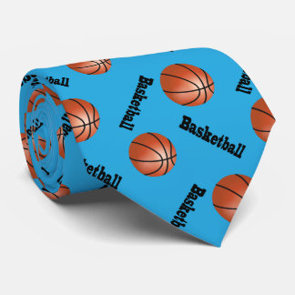 Sporty Baby Blue Background   Basketball Tie