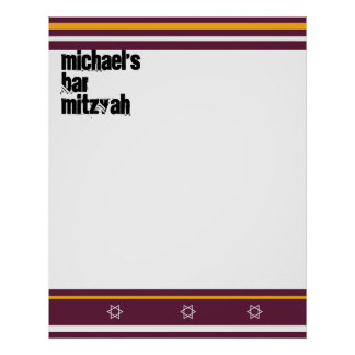Sporty Bar Mitzvah Sign In Board - Redskins