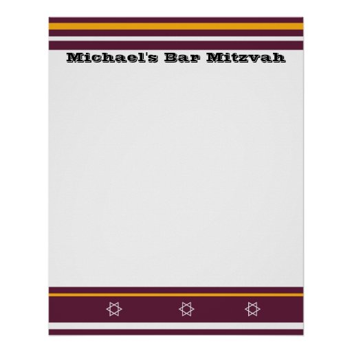 Sporty Bar Mitzvah Sign In Board - Redskins Poster