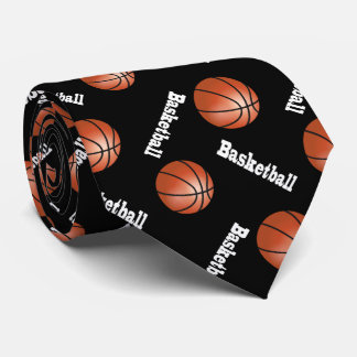 Sporty Basketball    Changeable Background Color Neck Tie