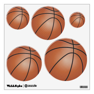 Sporty Basketballs Wall Sticker