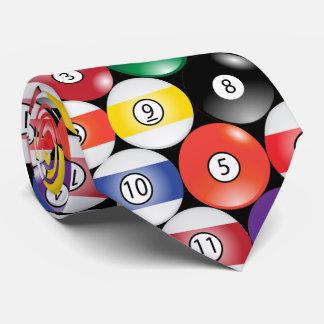 Sporty Billiard Pool Balls Neck Tie