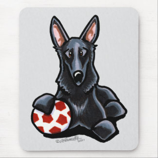 Sporty Black GSD Mouse Pad
