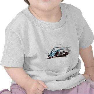 Sporty Blue Car Baby Tee Shirt