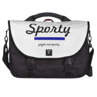 Sporty Blue Commuter Laptop Bag