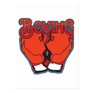 Sporty Boxing Postcard