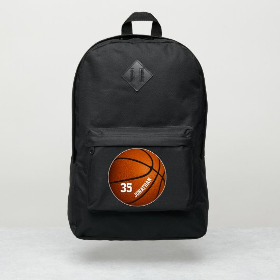 sporty boys girls basketball personalized port authority® backpack