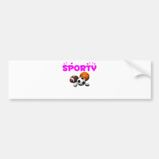 Sporty Bumper Sticker