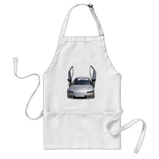 sporty car adult apron