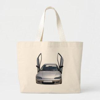sporty car large tote bag