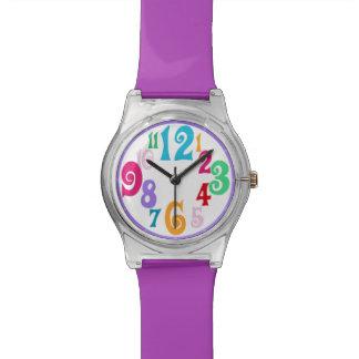 Sporty Colorful Chic Purple Trim wall clock Watch