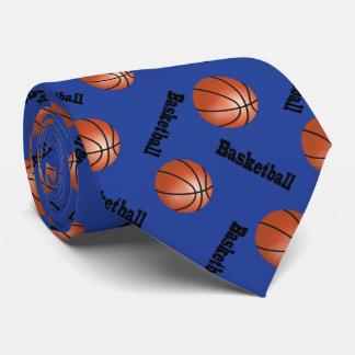 Sporty Dark Blue Background   Basketball Tie