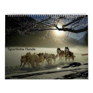Sporty dogs calendar