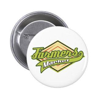 Sporty Farmers Market Pinback Buttons