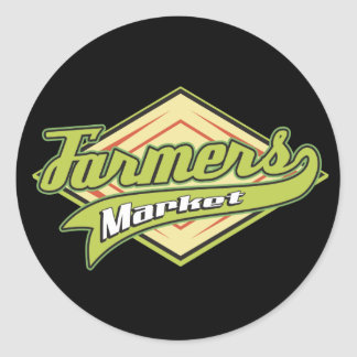 Sporty Farmers Market Classic Round Sticker