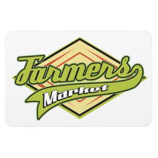 Sporty Farmers Market Magnet