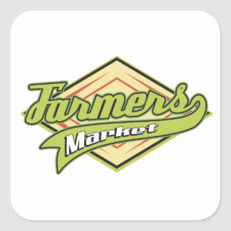 Sporty Farmers Market Square Sticker
