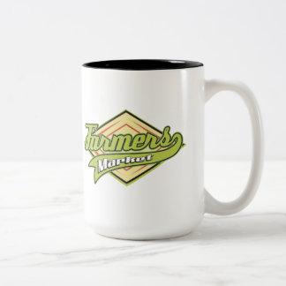 Sporty Farmers Market Two-Tone Coffee Mug