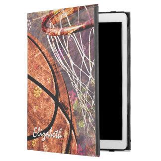 Sporty Girls Basketball Purple Pink iPad Pro Case