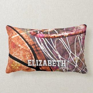 Sporty Girls' Basketball Pillow