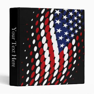 Sporty Halftone USA American Flag 3 Ring Binder