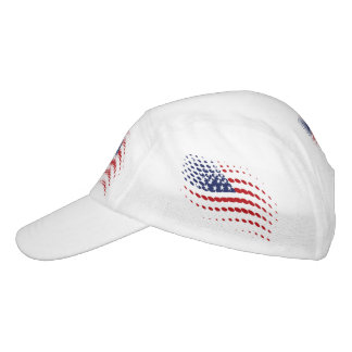 Sporty Halftone USA American Flag Headsweats Hat