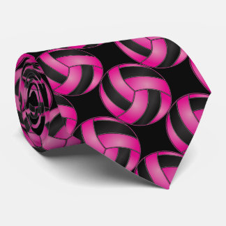 Sporty Hot Pink Volleyball Neck Tie