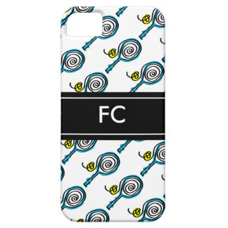 Sporty iPhone case with tennis racket pattern