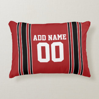 Sporty Jersey with Custom Name Number Accent Pillow