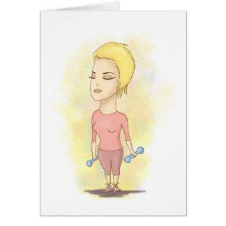 Sporty lady card