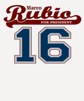 Sporty Marco Rubio for President '16 Shirt