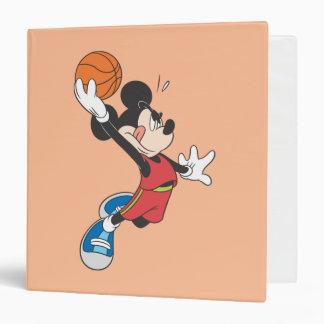 Sporty Mickey   Dunking Basketball Binder