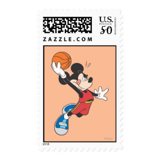 Sporty Mickey | Dunking Basketball Postage