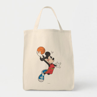 Sporty Mickey | Dunking Basketball Tote Bag