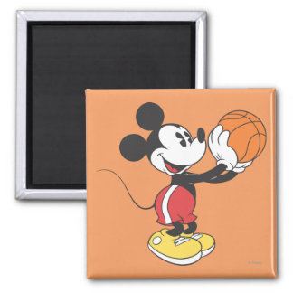 Sporty Mickey | Holding Basketball 2 Inch Square Magnet