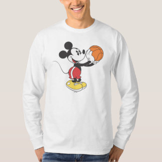 Sporty Mickey | Holding Basketball T-Shirt
