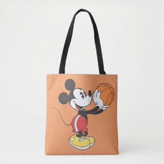 Sporty Mickey | Holding Basketball Tote Bag