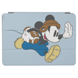 Sporty Mickey | Running with Football iPad Air Cover