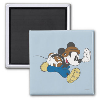 Sporty Mickey | Running with Football Magnet