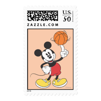 Sporty Mickey | Spinning Basketball Postage