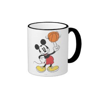 Sporty Mickey | Spinning Basketball Ringer Mug