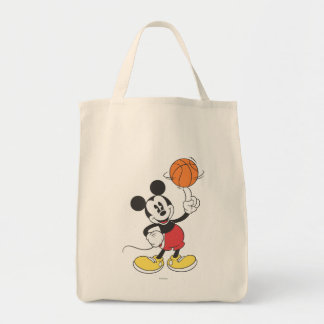 Sporty Mickey | Spinning Basketball Tote Bag